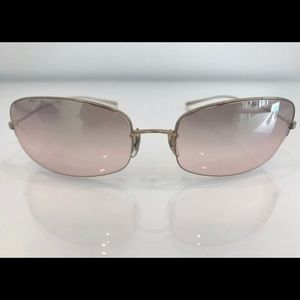 OLIVER PEOPLES GOLD PINK GRADIENT SUNGLASSES